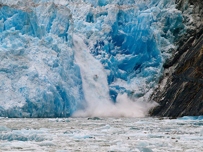 Ice falls from South Sawyer Glacier Copyright 2009 Neil Stahl