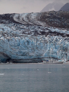 Glacier along Johns Hopkins Inlet; note river coming out bottom Copyright 2009 Neil Stahl