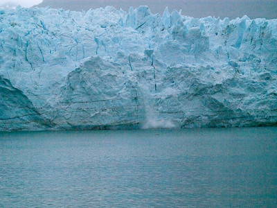 Ice fall on Margaret Glacier Copyright 2009 Neil Stahl