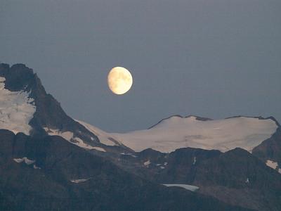 Moon over Taiya Inlet, Alaska Copyright 2009 Neil Stahl