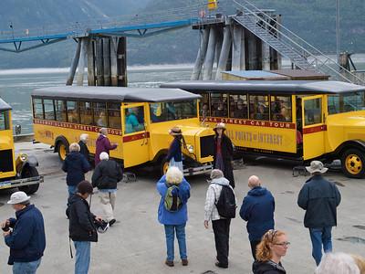 Busses at Skagway Copyright 2009 Neil Stahl