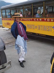 Our bus driver, Nikki struts her stuff Copyright 2009 Neil Stahl
