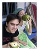 Dan and me enjoying coconut water