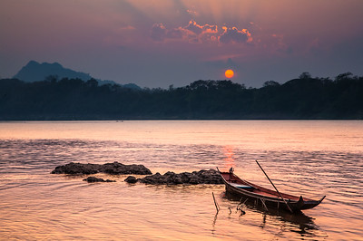Mekong River Sunset, Luang Prabang