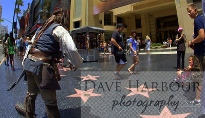 Hollywood Walk of Fame-Kids watch pirate