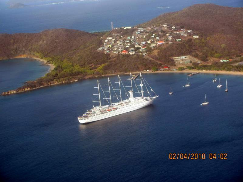 From the air while returning to St. Lucia from the Grenadines
