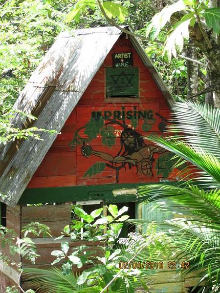 The local Rastafarian's house
