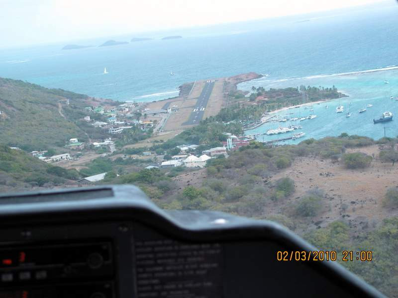 The air strip at Union Island...not much room for over-running this airport!