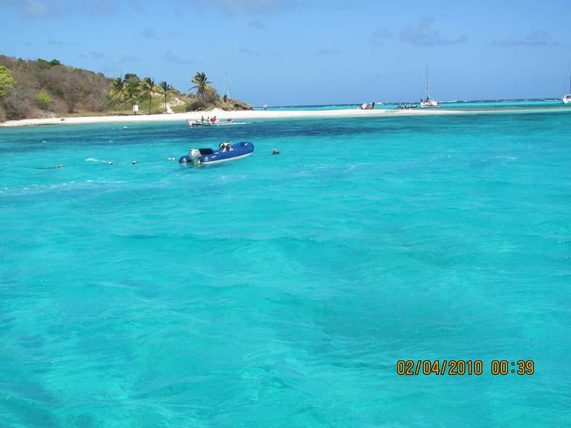 Arriving at Tobago Cays National Marine Park, The Grenadines