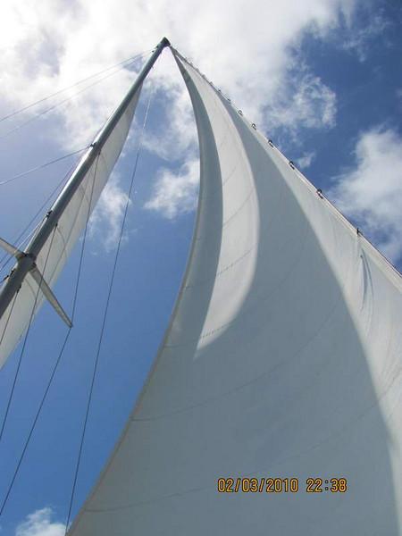 Aboard the 60' catamaran