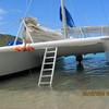 Some used the ladder, some jumped off the stern during island hopping
