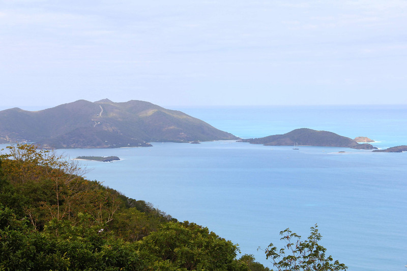 View from Ridge Road looking at Jost Van Dyke Island