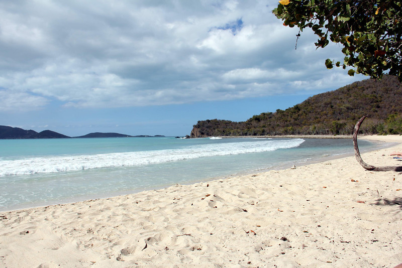 Looking west on Smuggler's Cove Beach, Tortola, BVI