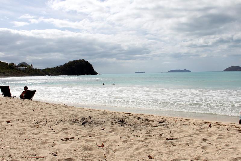 Views of Smuggler's Cove Beach,  Tortola, BVI