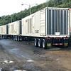 Three of the dozen or so massive generators used following Hurricane Maria