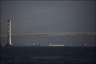 San Francisco Bay Bridge.