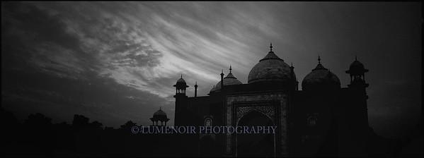 Old Fort at Sunset, Taj Mahal complex. Varanasi, India.