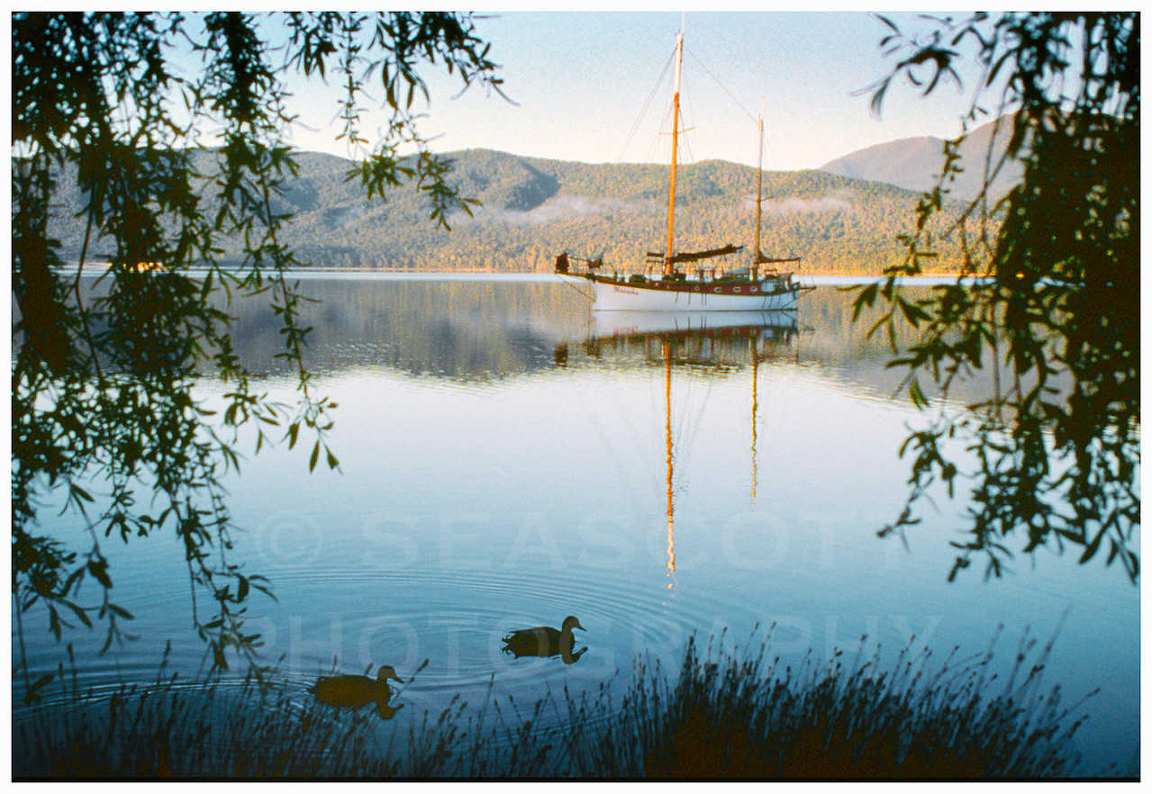 Early morning on the inland lakes of New Zealand's South Island.