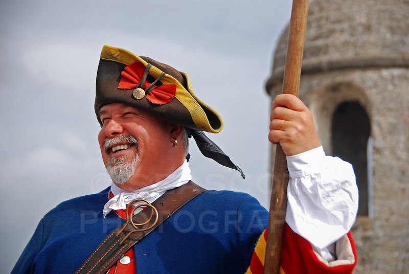 Guard at Castillo de San Marcos, St. Augustine, Florida.