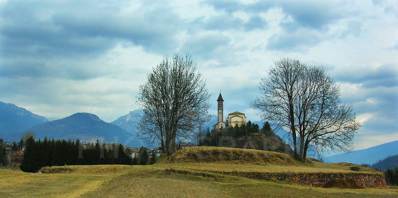 In the foothills of the Dolomites, northern Italy.