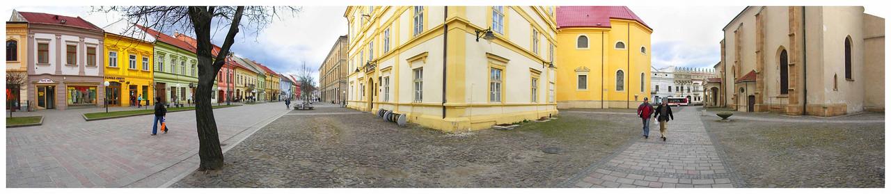 The colorful streets of Presov, Slovakia.