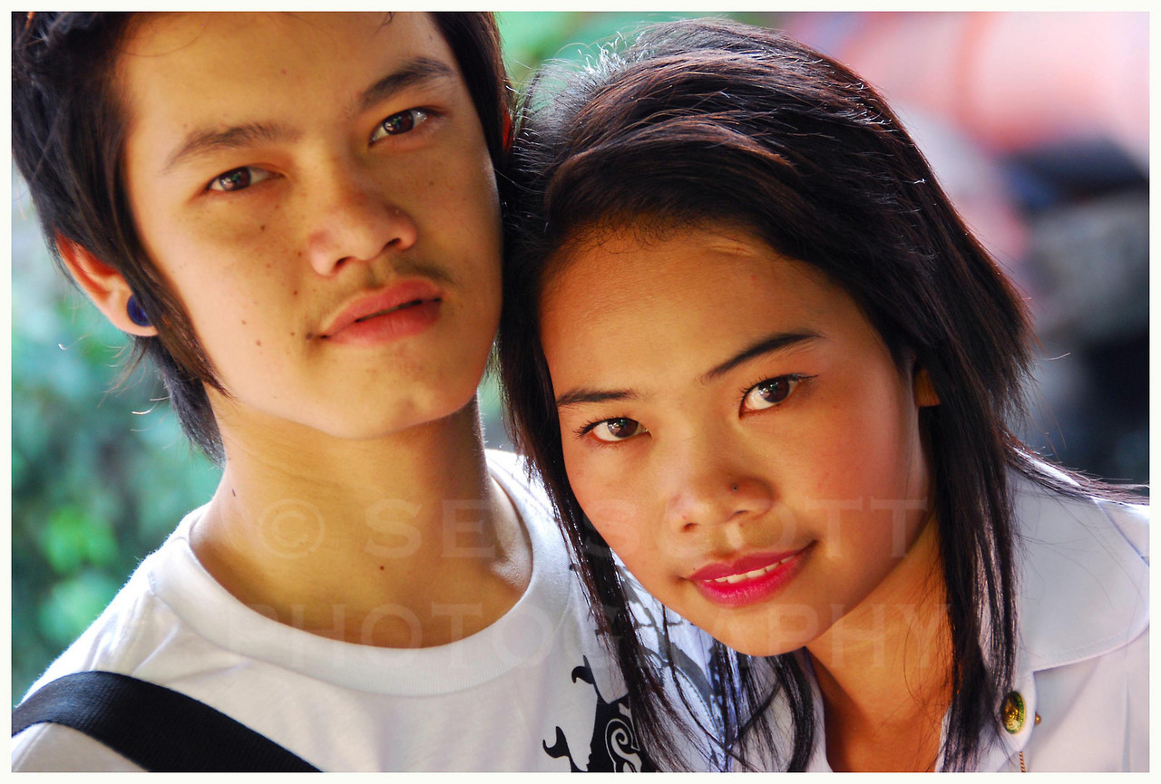 Young couple, Bangkok, Thailand.