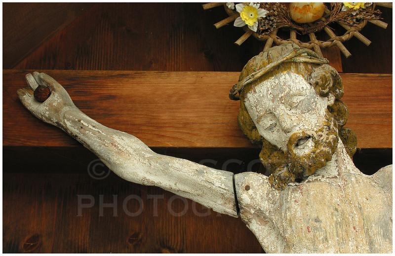 Roadside crucifix,  Italian Alps.