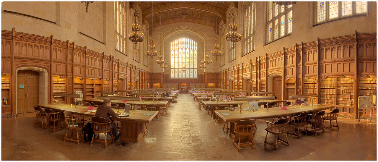 University of Michigan, Law School Reading Room.