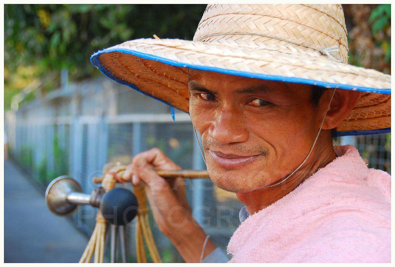 Egg vendor,  Bangkok, Thailand.