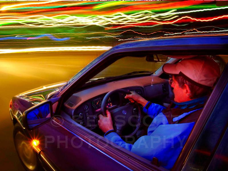 Night Drive.  Ann Arbor, Michigan.