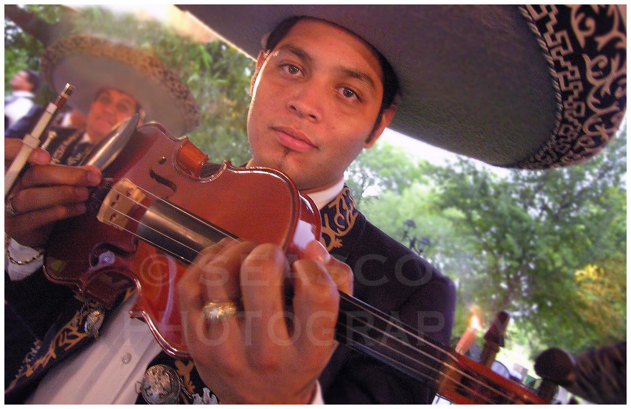 Mariachi band member.  Monterrey, Mexico.