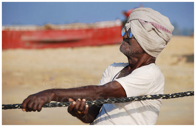 The hard life of a subsistence fisherman in southwest India.