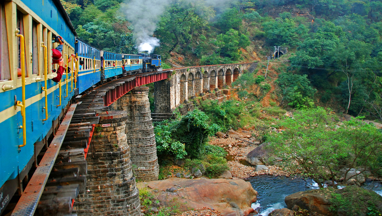 Built by the British in the 1890's, the steam powered Niligiri railway still operates in the mountains of southern India.
