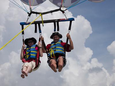 Vonda and Neil go parasailing. Copyright 2012 Neil Stahl