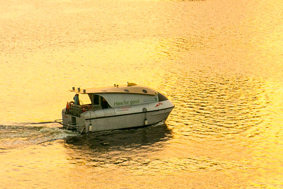 Dubai Water Taxi at Sunrise