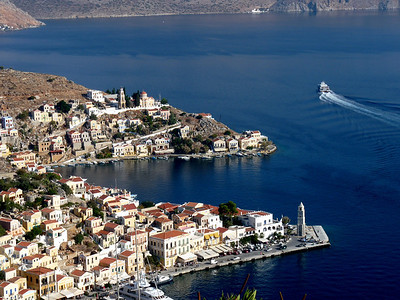 Symi town from above