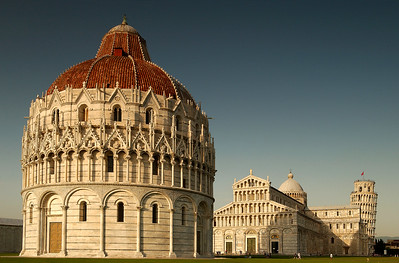 Baptristry, Duomo and Bell Tower - Pisa