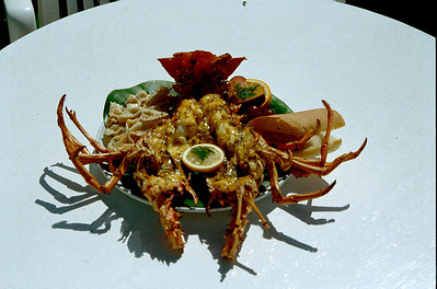 the perfect langoustine at Scilly Cay