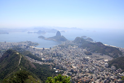 Downtown Rio with Sugarloaf in the distance