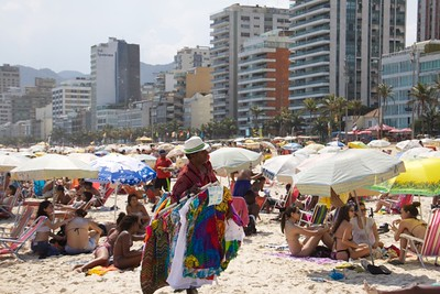 hawker on Ipanema Beach