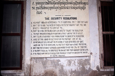 infamous Tuol Sleng prison of the Khmer Rouge who killed a half million Cambodians in 1977-78
