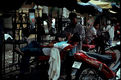 Phnom Penh barber