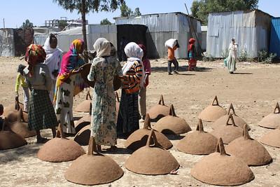clay tops used to make Ethiopian bread (Injera)
