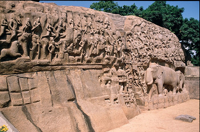 Mamallapuram- world's largest bas-relief...Arjuna'sPenance