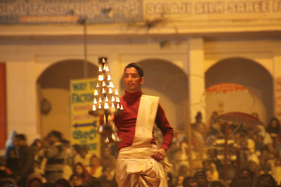 Priest praying at Gangaarti