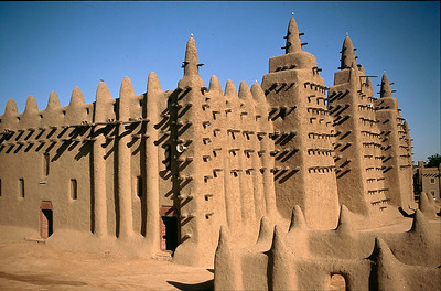 Djenne Mosque is the largest mud structure in the world