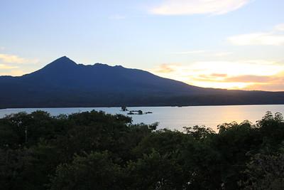 View of Mombacho Volcano from Jicaro Lodge