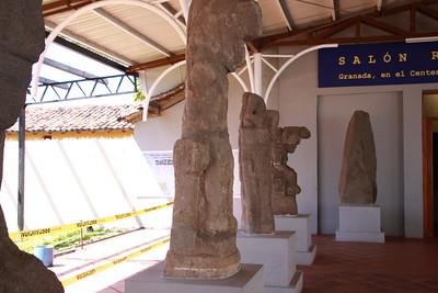 Grenada, Nicaragua   Pre-Columbian statues