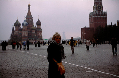Bobbi on Red Square just before being accosted by the KGB