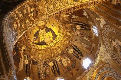 Byzantine mosaics 1140AD in Palatine Chapel